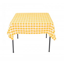 Tablecloth Square Checkered 45 Inch Turquoise By Broward Linens