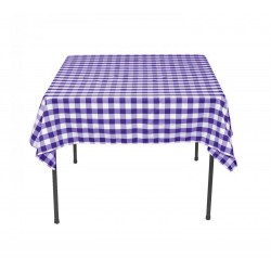 Tablecloth Square Checkered 42 Inch Pink By Broward Linens