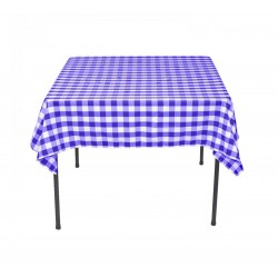 Tablecloth Square Checkered 42 Inch Red By Broward Linens