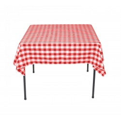 Tablecloth Square Checkered 30 Inch Navy Blue By Broward Linens