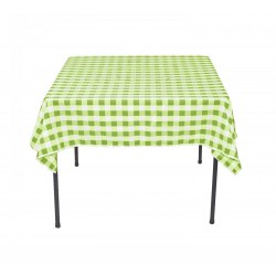 Tablecloth Square Checkered 30 Inch Apple Green By Broward Linens
