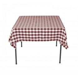 Tablecloth Square Checkered 24 Inch Black By Broward Linens