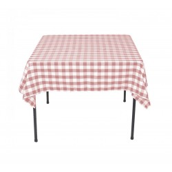 Tablecloth Square Checkered 24 Inch Hunter Green By Broward Linens