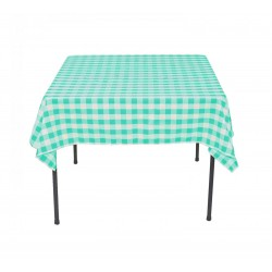 Tablecloth Square Checkered 24 Inch Navy Blue By Broward Linens