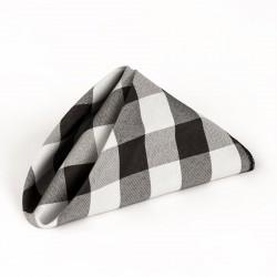 Napkins Checkered 20 X 20 Inch (10 Units) Black By Broward Linens
