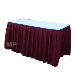 Table Skirt 21' Brown Polyester By Broward Linens