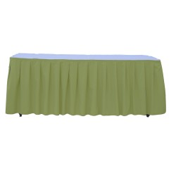 Table Skirt 17' Apple Green Polyester By Broward Linens