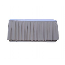 Table Skirt 17' Baby Blue Polyester By Broward Linens