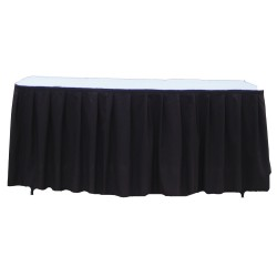 Table Skirt 17' Black Polyester By Broward Linens