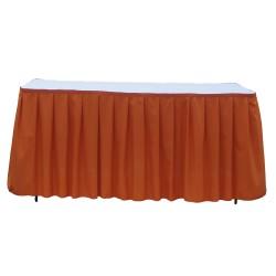 Table Skirt 17' Burgundy Polyester By Broward Linens