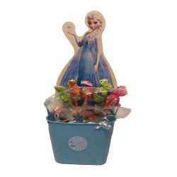By Broward Balloons Disney Frozen Shape and Candy in Container Blue