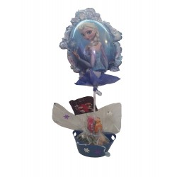 By Broward Balloons Disney Frozen Elsa and Anna Balloon and Candy in Container Small
