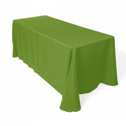 Tablecloth Rectangular 90x132 Inch Apple Green By Broward Linens