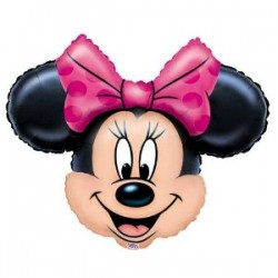 By Broward Balloons Disney Minnie Mouse Head Mini Shape Balloons Favors Decorations Supplies