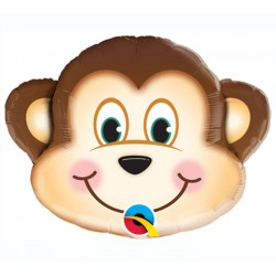By Broward Balloons Mischievous Monkey Mini Shape 14 Inch Balloon