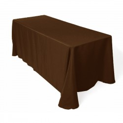 Tablecloth Rectangular 90x132 Inch Black By Broward Linens