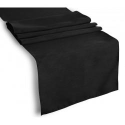 Tablecloth Runner Polyester 12 X 108 Inch Black Broward Linens