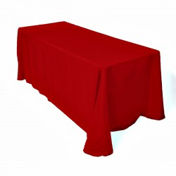Tablecloth Rectangular 90x132 Inch Coral By Broward Linens