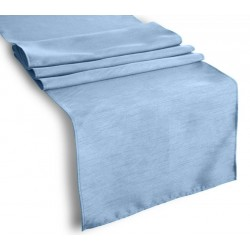 Tablecloth Runner Polyester 12 X 108 Inch Steel Blue Broward Linens