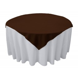 Overlay Square Polyester Black 72 Inch By Broward Linens