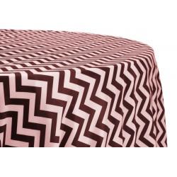 Tablecloth Chevron Round 54 Inch Black By Broward Linens