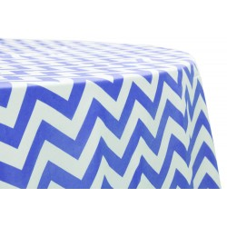Tablecloth Chevron Round 54 Inch Red By Broward Linens