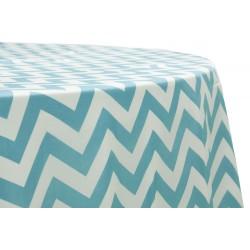 Tablecloth Chevron Round 54 Inch Royal Blue By Broward Linens