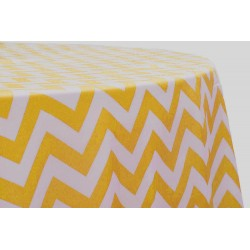 Tablecloth Chevron Round 54 Inch Turquoise By Broward Linens
