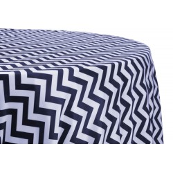 Tablecloth Chevron Round 45 Inch Hot Pink By Broward Linens