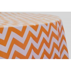 Tablecloth Chevron Round 45 Inch Navy Blue By Broward Linens