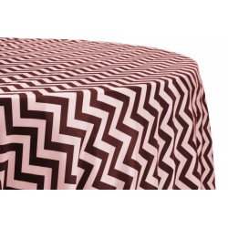 Tablecloth Chevron Round 36 Inch Black By Broward Linens