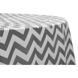 Tablecloth Chevron Round 36 Inch Burgundy By Broward Linens
