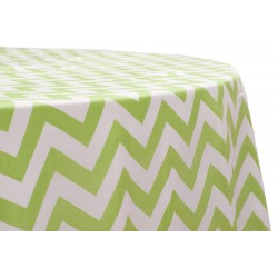 Tablecloth Chevron Round 58 Inch Apple Green By Broward Linens