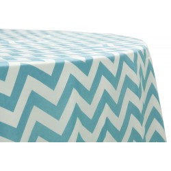 Tablecloth Chevron Round 30 Inch Royal Blue By Broward Linens