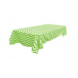 Tablecloth Chevron Round 30 Inch Apple Green By Broward Linens
