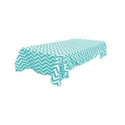 Tablecloth Chevron Rectangular 60x144 Inch Royal Blue By Broward Linens