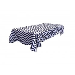 Tablecloth Chevron Rectangular 60x120 Inch Turquoise By Broward Linens