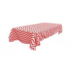 Tablecloth Chevron Rectangular 60x102 Inch Black By Broward Linens