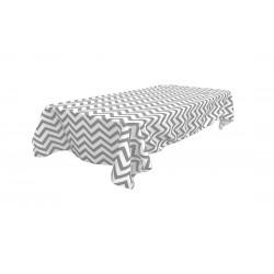 Tablecloth Chevron Rectangular 60x90 Inch Burgundy By Broward Linens
