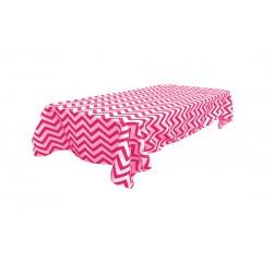Tablecloth Chevron Rectangular 45x54 Inch Grey By Broward Linens