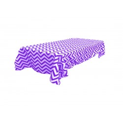 Tablecloth Chevron Rectangular 45x54 Inch Turquoise By Broward Linens