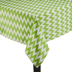 Tablecloth Chevron Rectangular 45x54 Inch Apple Green By Broward Linens