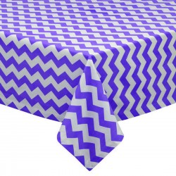 Tablecloth Chevron Square 58 Inch Orange By Broward Linens
