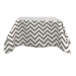 Tablecloth Chevron Square 45 Inch Burgundy By Broward Linens