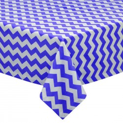 Tablecloth Chevron Square 45 Inch Red By Broward Linens