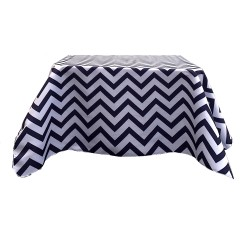 Tablecloth Chevron Square 42 Inch Apple Green By Broward Linens