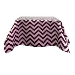 Tablecloth Chevron Square 42 Inch Black By Broward Linens