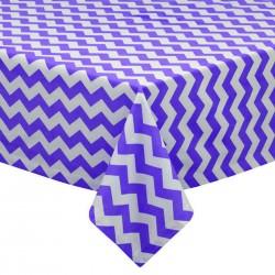 Tablecloth Chevron Square 42 Inch Orange By Broward Linens