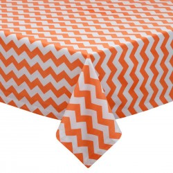 Tablecloth Chevron Square 36 Inch Navy Blue By Broward Linens