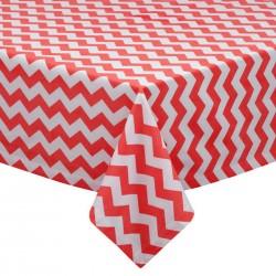 Tablecloth Chevron Square 36 Inch Purple By Broward Linens